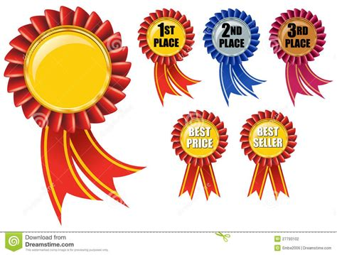 Ribbon Parti Kinds 3th 5th 1st 2nd 3rd Place Clipart 11