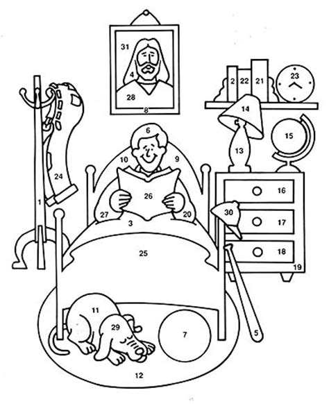 free coloring pages of daily routine