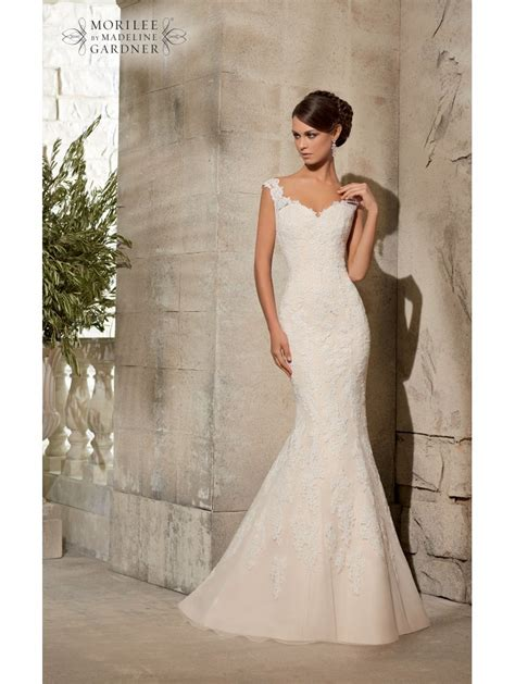 Wedding Dresses Size 12 by Mori 5316 Ivory Silver Lace Fishtail Wedding Dress Size 12