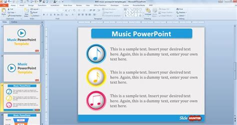 free templates for multimedia presentation free music powerpoint template