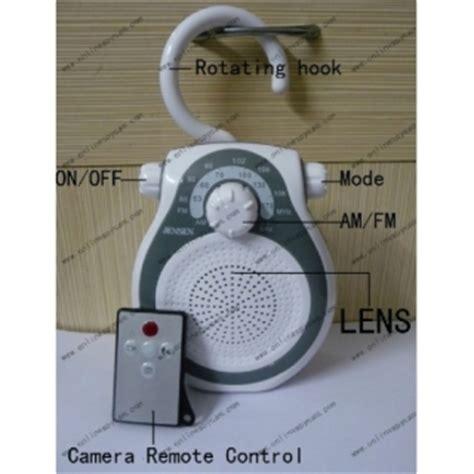 bathroom spy cam for sale am fm shower radio hidden hd pinhole spy camera dvr 16gb