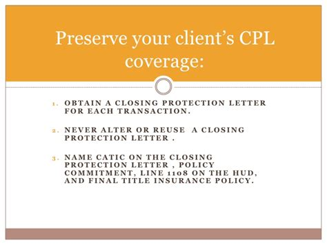 closing protection letter closing protection letter closing protection letter 1129