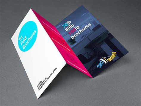 tri fold tri fold brochures 100lb gloss book thickest