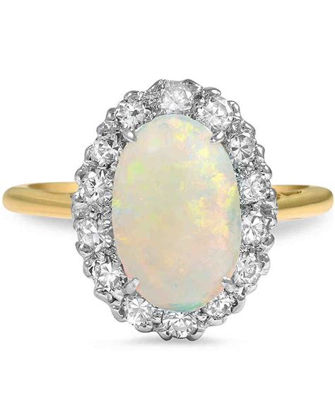 Wedding Rings Opal by Opal Engagement Rings That Are Oh So Dreamy Martha