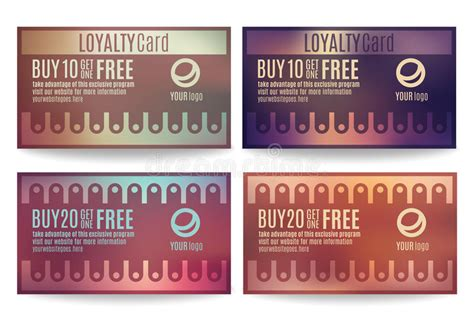 Customer Loyalty Card Templates Stock Vector Illustration 51005703 Customer Rewards Program Template