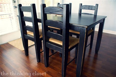 distressed black kitchen table the beginner s guide to distressing with sloan chalk