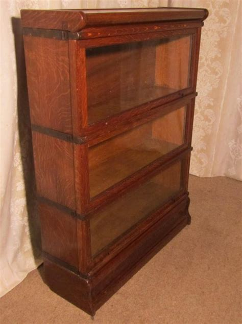 Antique Stacking Bookcase A 3 Stack Oak Globe Wernicke Barristers Bookcase 0