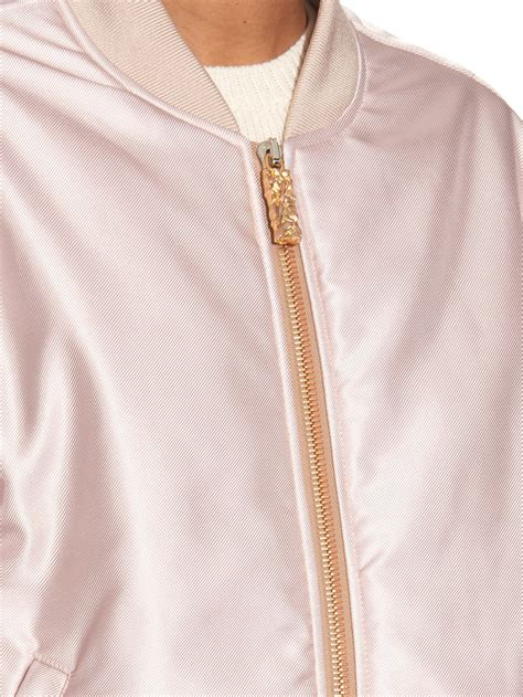 light pink bomber jacket acne studios selow satin twill bomber jacket in pink lyst