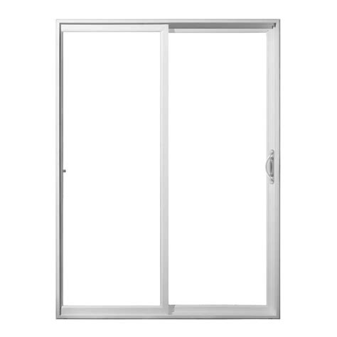 Jeld Wen 72 In X 80 In White Vinyl Right Hand Sliding Home Depot Sliding Glass Patio Doors