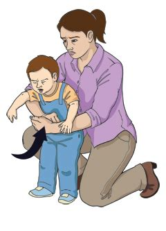 choking first aid (child, age 1 year and older)