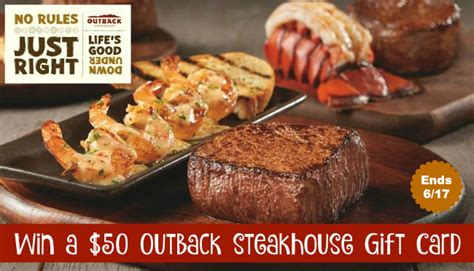 Outback Steakhouse E Gift Card - win a 50 outback steakhouse gift card blessed beyond a doubt