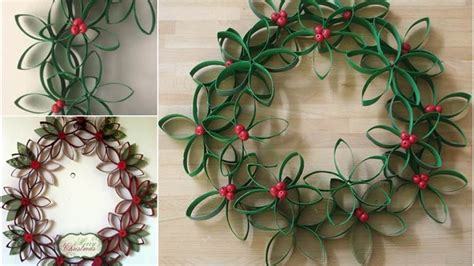 Crafts Out Of Toilet Paper Rolls - wreath made out of toilet paper rolls diy toilet paper