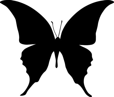 Butterfly P butterfly silhouette png www pixshark images