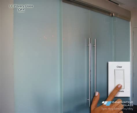 Interior Sliding Glass Doors Room Dividers Switchable Privacy Glass Sliding Room Divider Contemporary Interior Doors New York By
