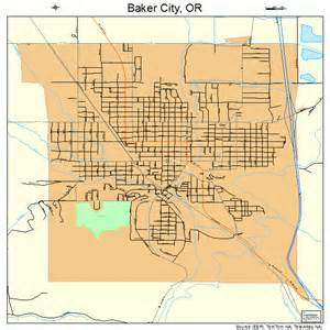 baker city oregon map 4103650