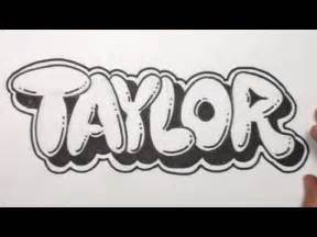 Create names with bubble letters how to draw bubble letters taylor