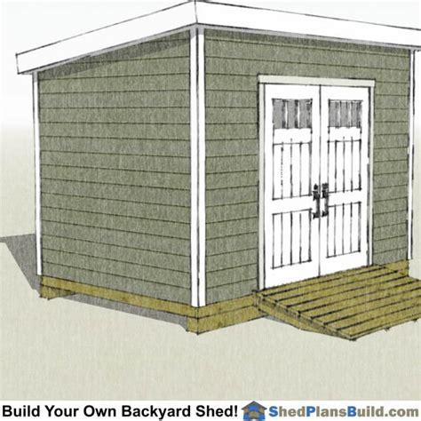 lean  shed plans start building