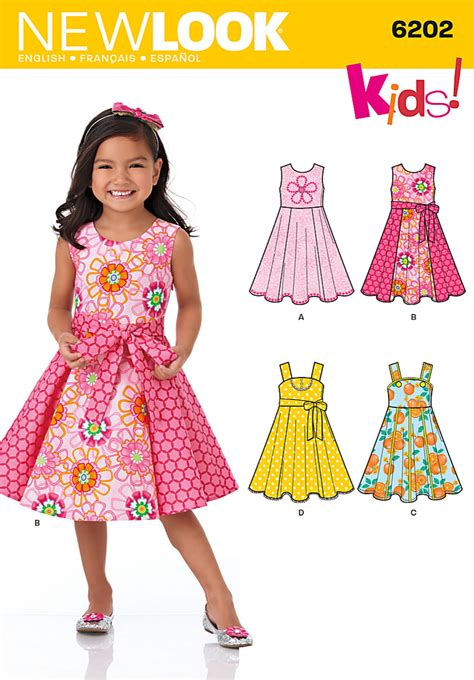 pattern dress child new look 6202 children s dress
