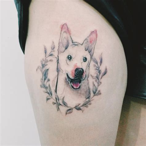 dog portrait tattoo portrait tattoos by tattooist doy milk