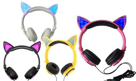 light up cat ear headphones up to 88 on jamsonic light up cat headphones