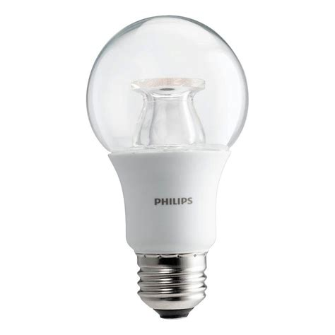 philips a19 led light bulb philips 60w equivalent soft white clear a19 dimmable led