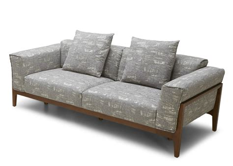 wood frame sofas dove fabric sofa with solid wood frame not just brown