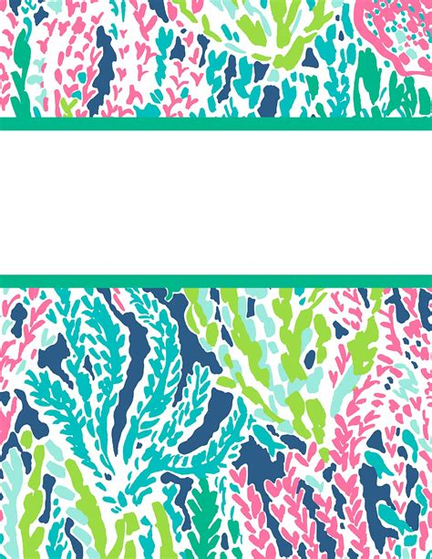 lilly pulitzer binder templates preppy goes back to school a fourth time