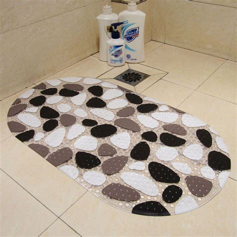 Pvc Non Slip Bath Mats Pebble Shower Anti Slip Bathroom Bathroom Floor Rugs