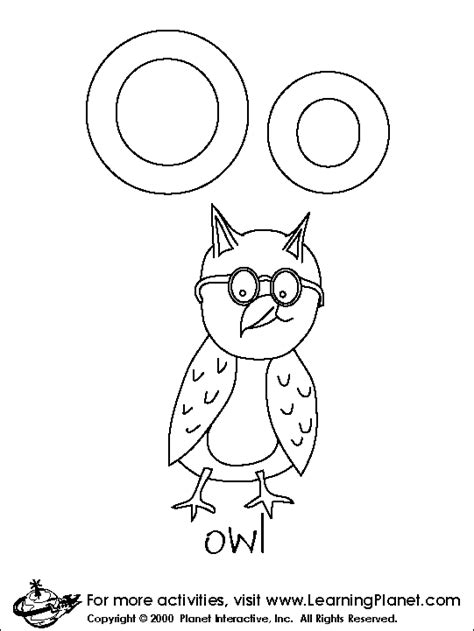 Free Coloring Pages Of Letter O Preschool Letter O Coloring Pages Preschool