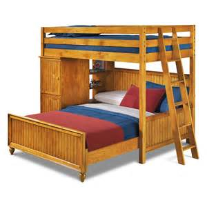 Loft And Bunk Beds Colorworks Loft Bed With Bed Honey Pine Value City Furniture