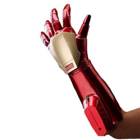 avengers iron man stark gauntlet glove led laser
