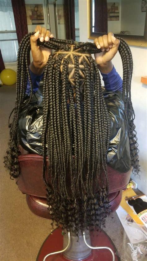 goddess braids box braids triangle part braids