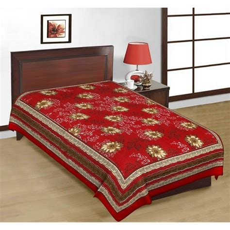 Single Bed Sheets by Buy Shop Rajasthan Floral Print Multicolor Cotton Single