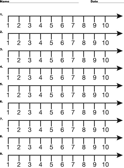 printable number line multiples of 10 number line 1 10 clipart etc
