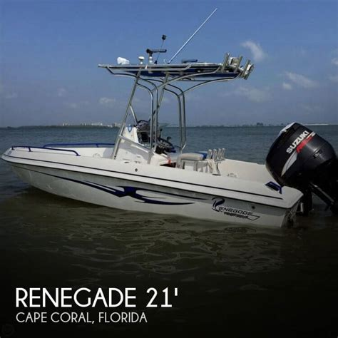 pontoon boats for sale cape coral florida for sale used 2008 renegade 21 open fisherman in cape