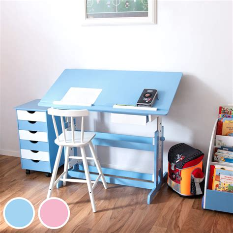 Pink Writing Desk by Height Adjustable Tilting Homework Writing Table