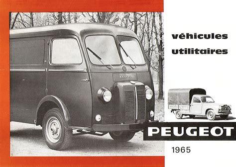 peugeot commercial 1965 peugeot commercial vehicles brochure