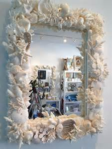 How To Decorate A Mirror With Shells by Shell Mirror Bernice Standen Sea Shell Mirrors