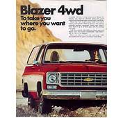 1975 Chevrolet And GMC Truck Brochures / Chevy Blazer
