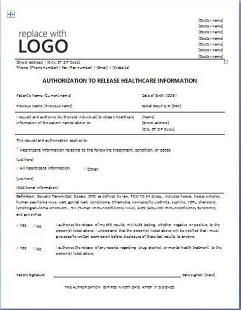 Letter Informing Patient Of Lab Results Release Of Information Form 46 Best Career Images On Emergency