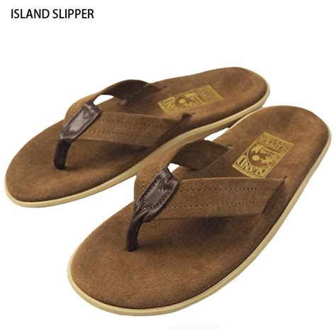 island slipper hawaii island slipper アイランドスリッパ suede leather sandals 2colors