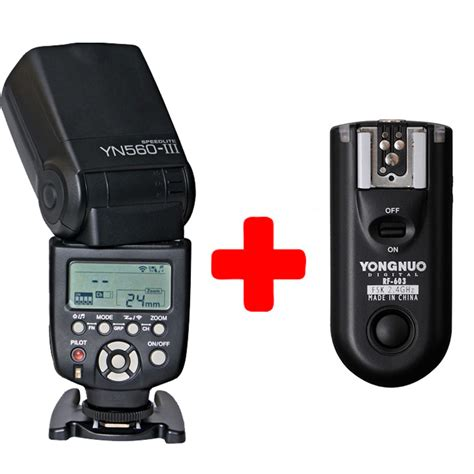 Flash Speedlite Yn 560iii yongnuo yn 560 iii with rf 603 single transmitter for nikon yn560iii ultra range wirelss