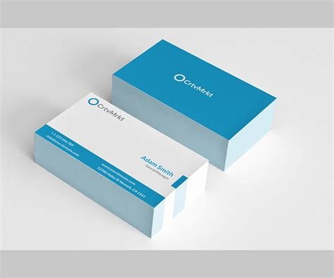 Two Sided Business Cards Illustrator Best Business Cards Two Sided Card Template