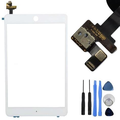 Flexsible Touchscreen Mini Ic Ori white touch screen digitizer lens with ic connector flex cable for mini uk