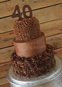 chocolate 40th birthday cake rose bakes