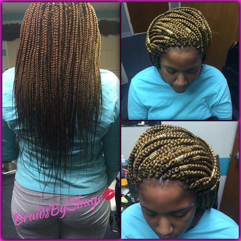 middle of back length weave medium mid back length box braids braidsbyshaye pinterest