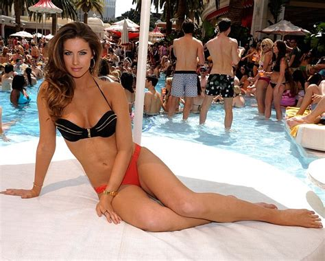 Bathing beauty katherine webb stripped down to her bikini for a fun