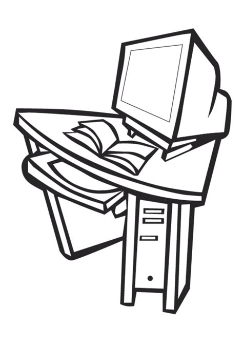 Coloring Desk For by Free Coloring Pages Of Desk