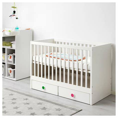 ikea baby bett stuva f 214 lja cot with drawers white 60x120 cm ikea