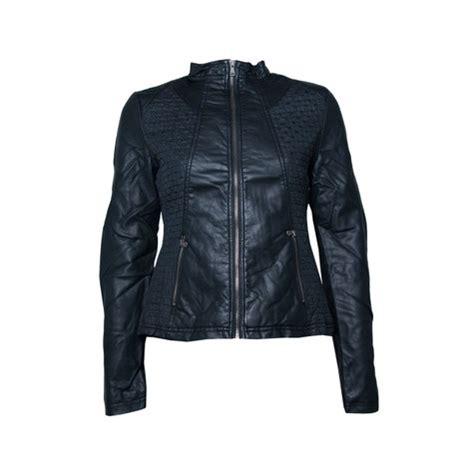 Zipper Jaket Silver escandelle black silver zip jacket